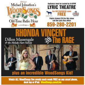 Michael Johnathon's WoodSongs Old Time Radio Hour Kicks Off New Season In August With Reigning Bluegrass Queen Rhonda Vincent & The Rage